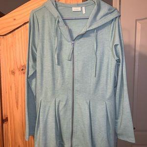 LOGO lounge zip hoodie